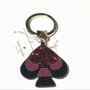 kate spade stacked glitter keychain